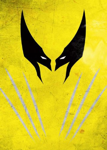 WOLVERINE - MINIMAL 2 canvas print - self adhesive poster - photo print